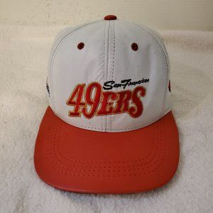 VTG  NFL San Francisco 49ers Genuine Leather Cap M
